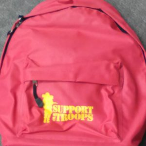 Support Our Troops Back Pack – Red